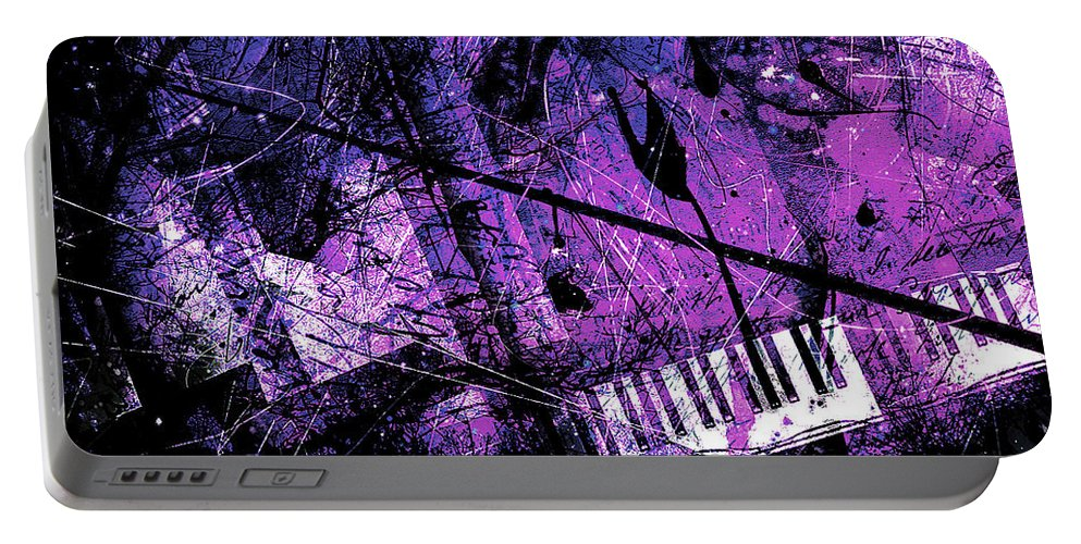 Piano Art Portable Battery Charger featuring the digital art Fantasy In F Minor by Gary Bodnar