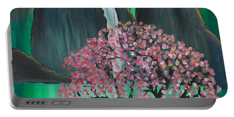 Japan Portable Battery Charger featuring the painting Fantasy Japan by Jacqueline Athmann