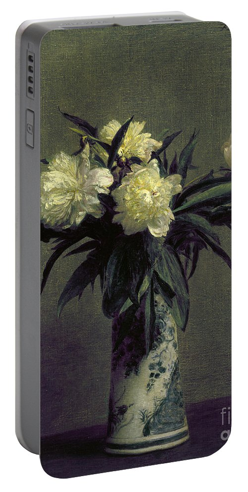 1872 Portable Battery Charger featuring the photograph Fantin-latour: Peonies, 1872 by Granger
