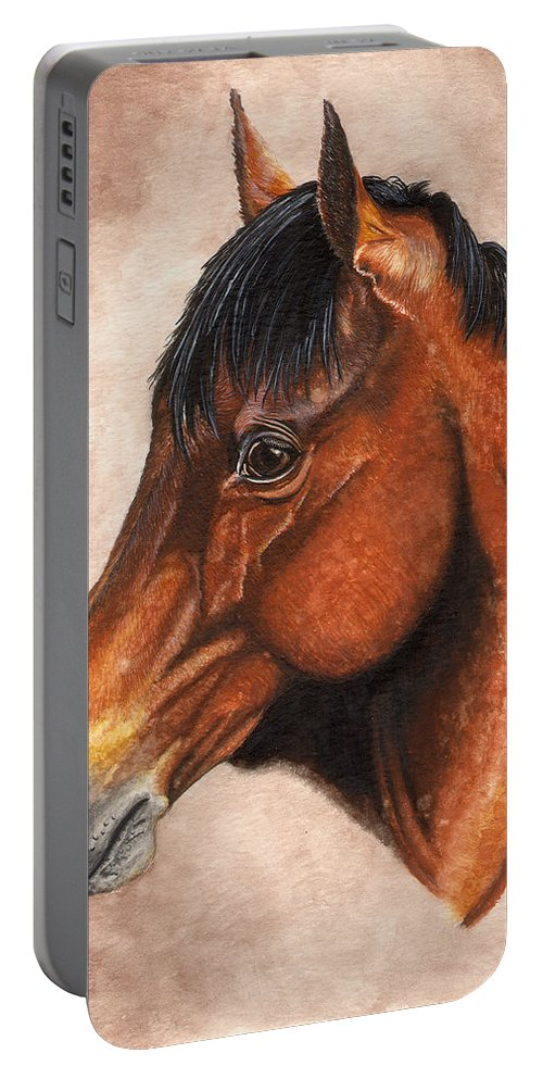 Horse Portable Battery Charger featuring the painting Farley by Kristen Wesch