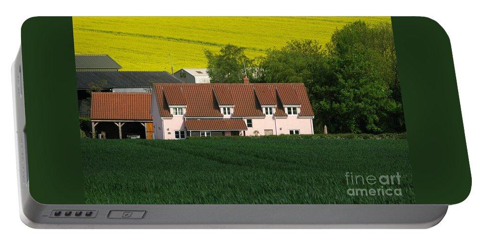 Farm Portable Battery Charger featuring the photograph Farm Fields by Ann Horn