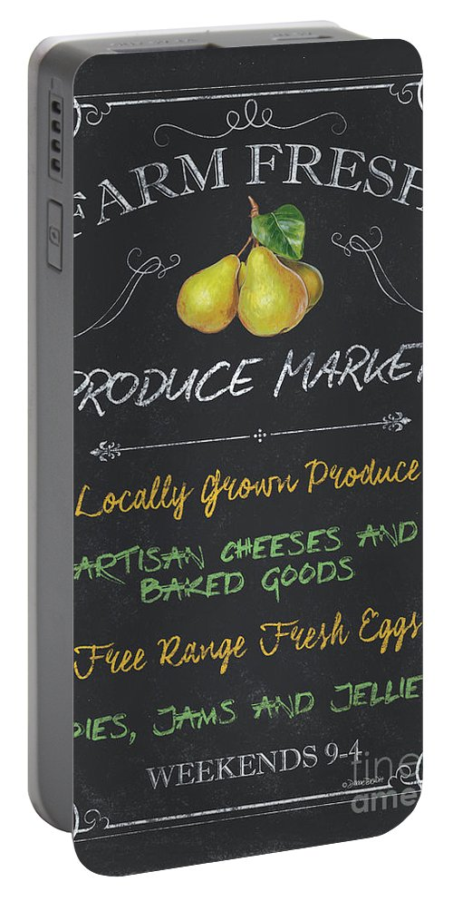 Farm Portable Battery Charger featuring the painting Farm Fresh Produce by Debbie DeWitt