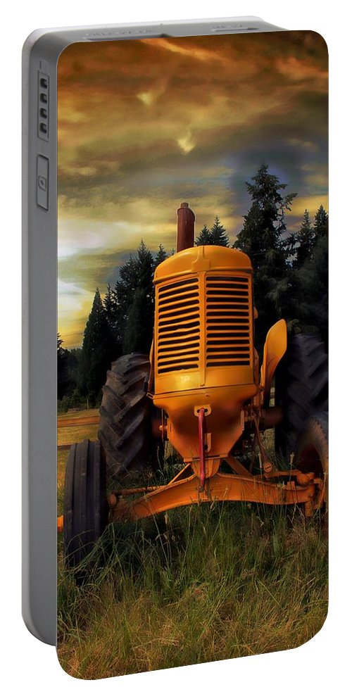 Tractor Portable Battery Charger featuring the photograph Farm On by Aaron Berg