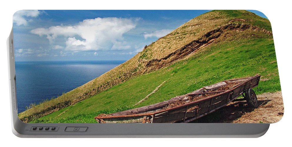 Europe Portable Battery Charger featuring the photograph Farming In Azores Islands by Gaspar Avila