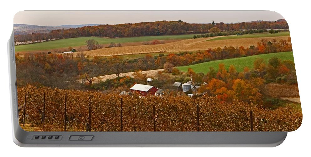 Lehigh Valley Portable Battery Charger featuring the photograph Farming In The Valley by Terrie Stickle