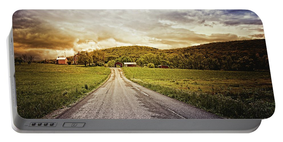 Christian Portable Battery Charger featuring the photograph Farmstead Drive by Joshua Zaring