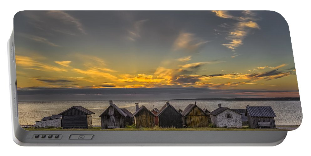 Baltic Sea Portable Battery Charger featuring the photograph Faroe, Gotland, Sweden by Ludwig Riml