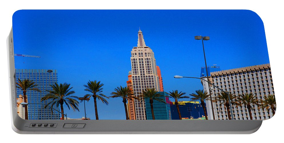 Photography Portable Battery Charger featuring the photograph Fascination Las Vegas by Susanne Van Hulst