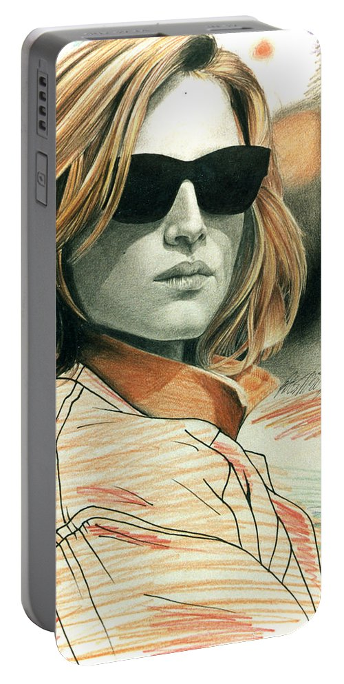 Shaun Portable Battery Charger featuring the painting Fashion Illustration by Shaun McNicholas