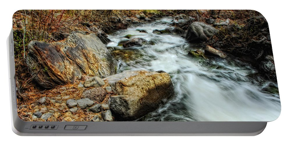 Creek Portable Battery Charger featuring the photograph Fast Forward by Donna Blackhall