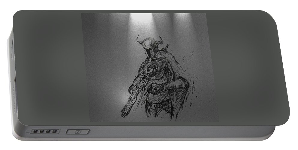 Fantasy Art Portable Battery Charger featuring the digital art Fatal by Taylan Fidan