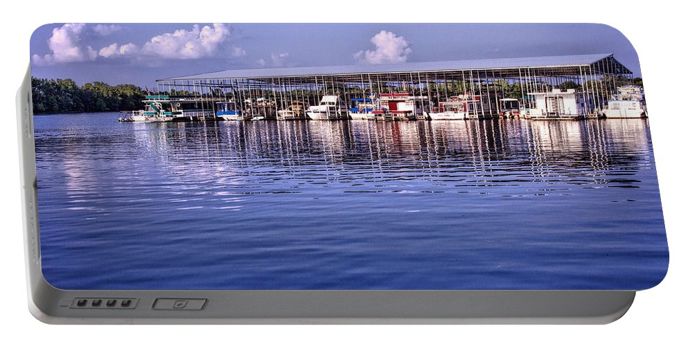 Marina Portable Battery Charger featuring the photograph Fate Sanders Marina by Diana Powell