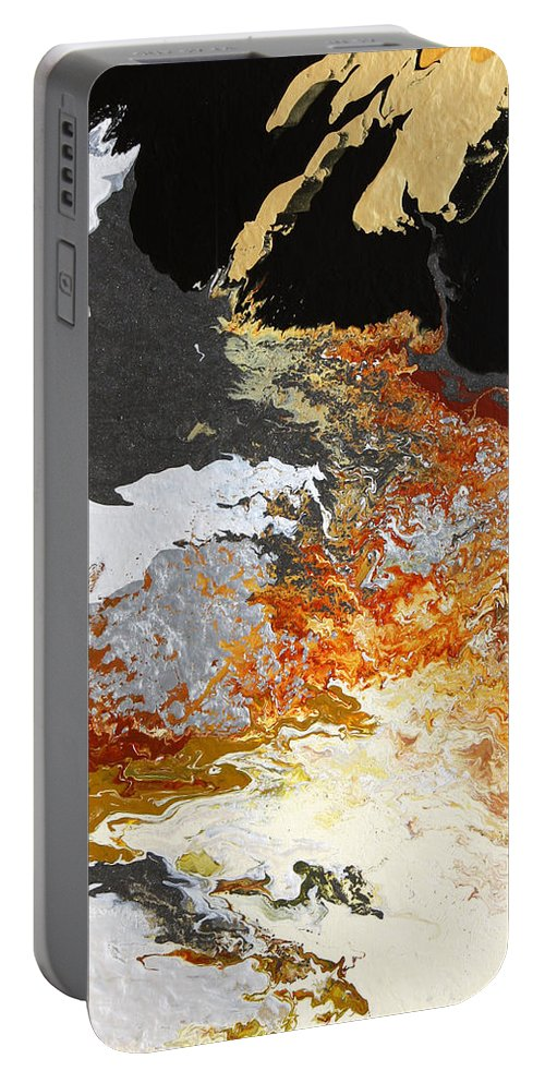 Fusionart Portable Battery Charger featuring the painting Fathom by Ralph White