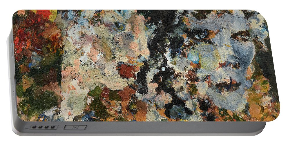 Faun Portable Battery Charger featuring the painting Faun's Spring by Oleg Konin