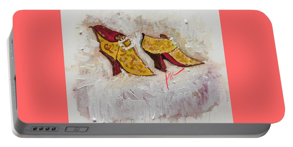Shoes Portable Battery Charger featuring the digital art Favorite Shoes by Mary Jo Hopton