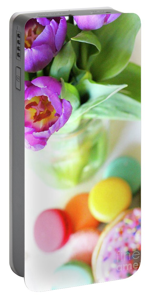 Portable Battery Charger featuring the digital art Favorite Things by Dalila Muro