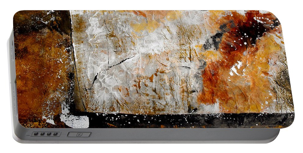 Abstract Portable Battery Charger featuring the painting Fear Of The Unknown by Ruth Palmer