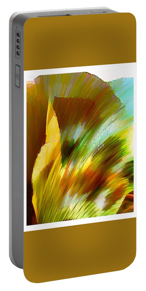 Landscape Digital Art Watercolor Water Color Mixed Media Portable Battery Charger featuring the digital art Feather by Anil Nene