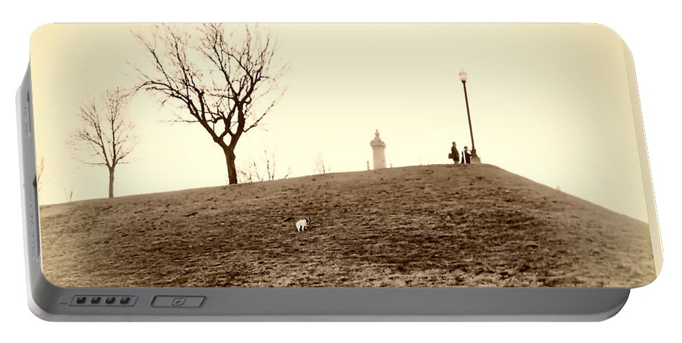 2d Portable Battery Charger featuring the photograph Federal Hill by Brian Wallace