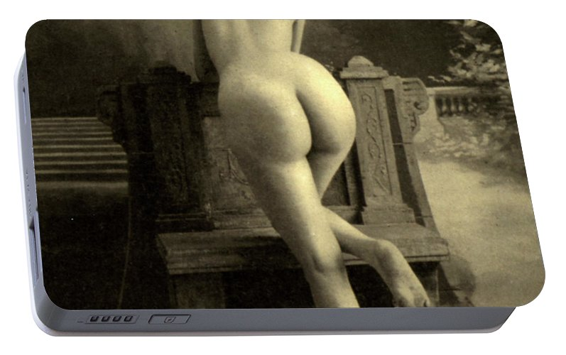 Nude Portable Battery Charger featuring the photograph Female Nude, Circa 1900 by French School