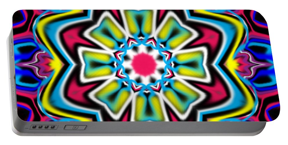 Blue Portable Battery Charger featuring the digital art Fenan by Blind Ape Art