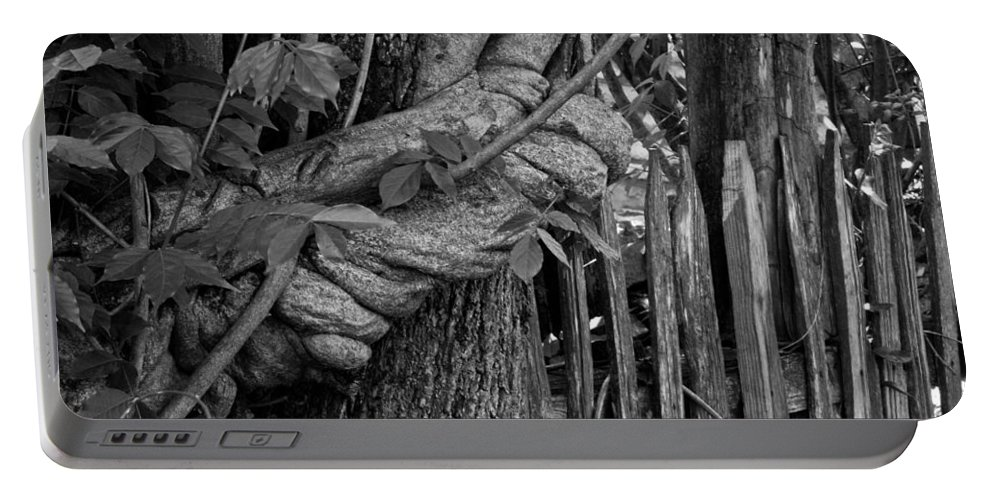 Fence Portable Battery Charger featuring the photograph Fence In The Tropics by Douglas Barnett