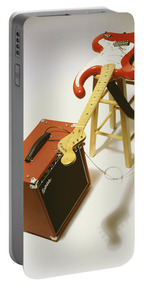 Guitar Portable Battery Charger featuring the photograph Fender Bender by Robert Ponzoni