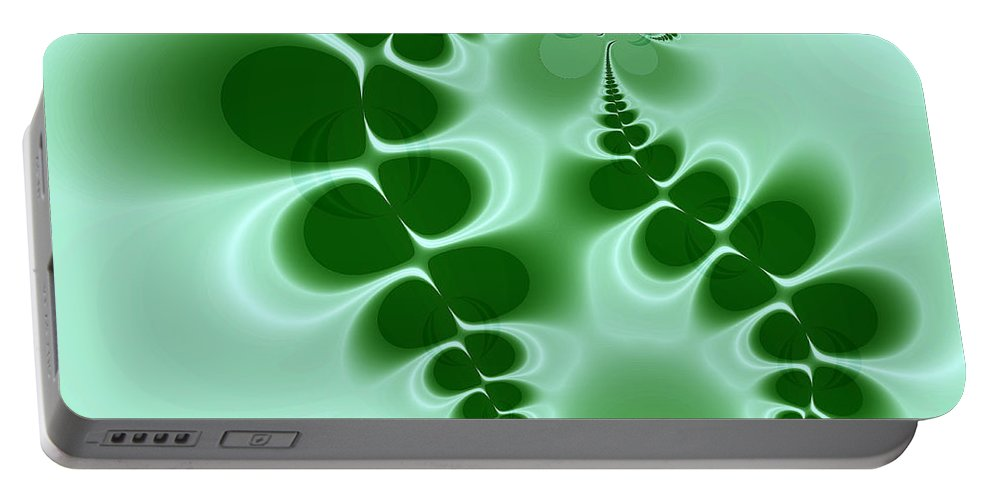Digital Art Portable Battery Charger featuring the digital art Ferns by Amanda Moore