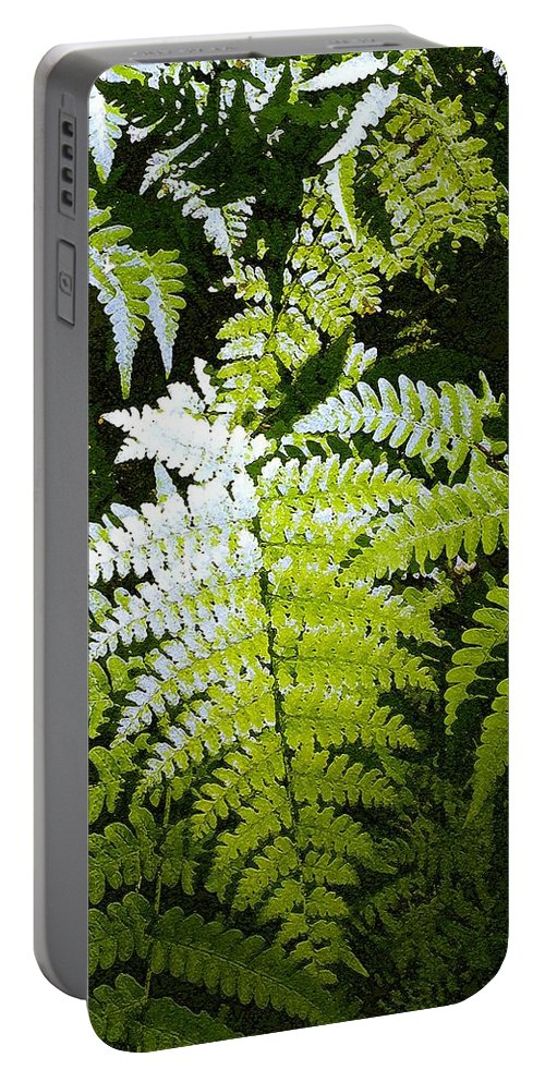 Ferns Portable Battery Charger featuring the photograph Ferns by Nelson Strong