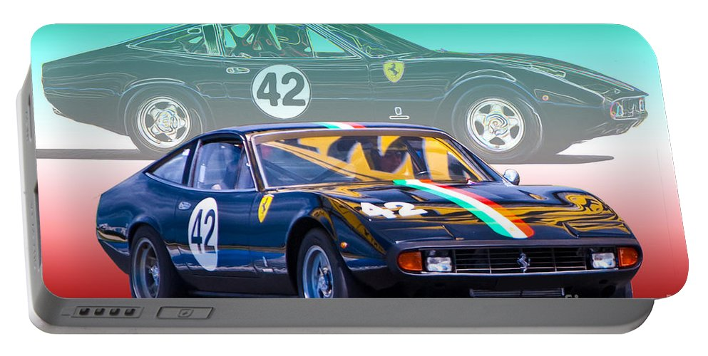 Ferrari Portable Battery Charger featuring the photograph Ferrari 365 Gtc4 by Stuart Row