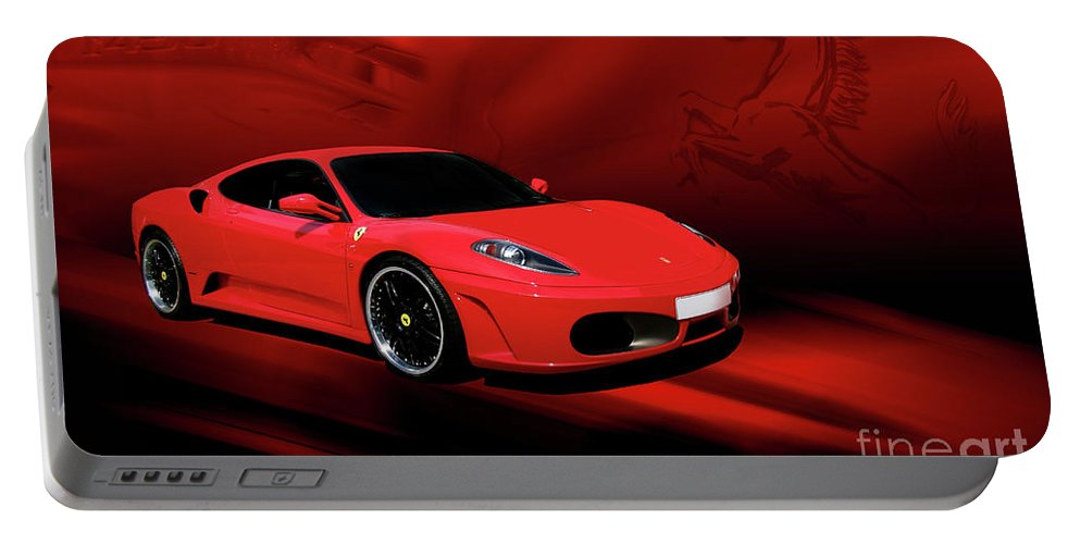 Ferrari Portable Battery Charger featuring the photograph Ferrari F430 by Joel Witmeyer