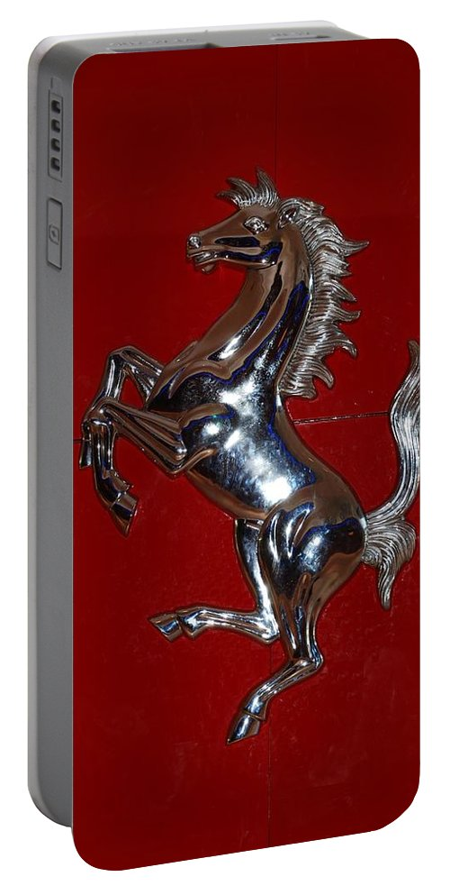Pop Art Portable Battery Charger featuring the photograph Ferrari Stallion by Rob Hans