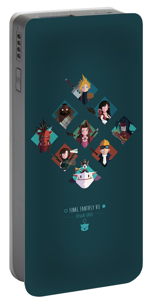 Final Fantasy Portable Battery Charger featuring the digital art FF Design Series by Michael Myers