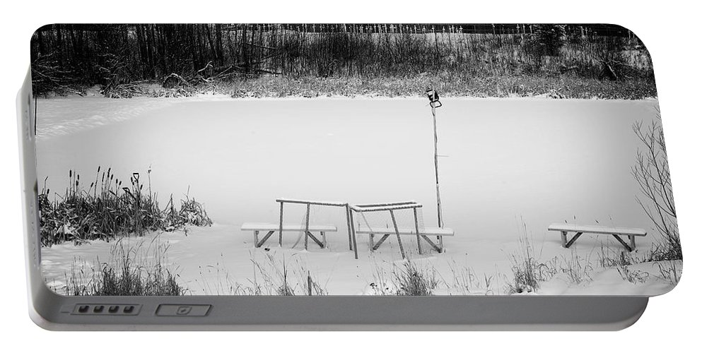 Hockey Portable Battery Charger featuring the photograph Field Of Dreams by Doug Gibbons