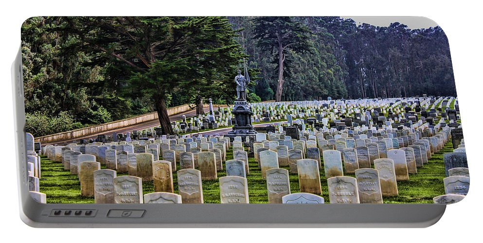 San Francisco National Cemetery Portable Battery Charger featuring the photograph Field Of Heroes by Tommy Anderson