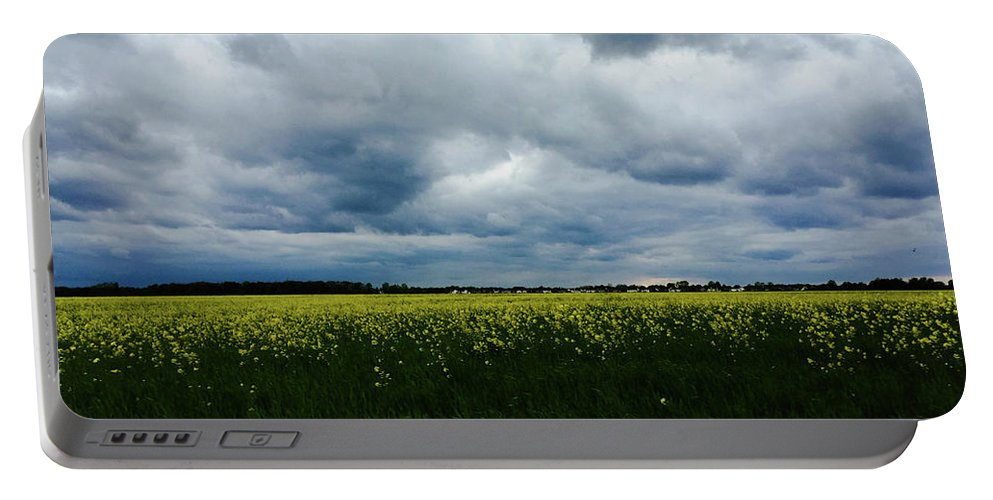 Field Portable Battery Charger featuring the photograph Field Of Weeds by Dan McCafferty