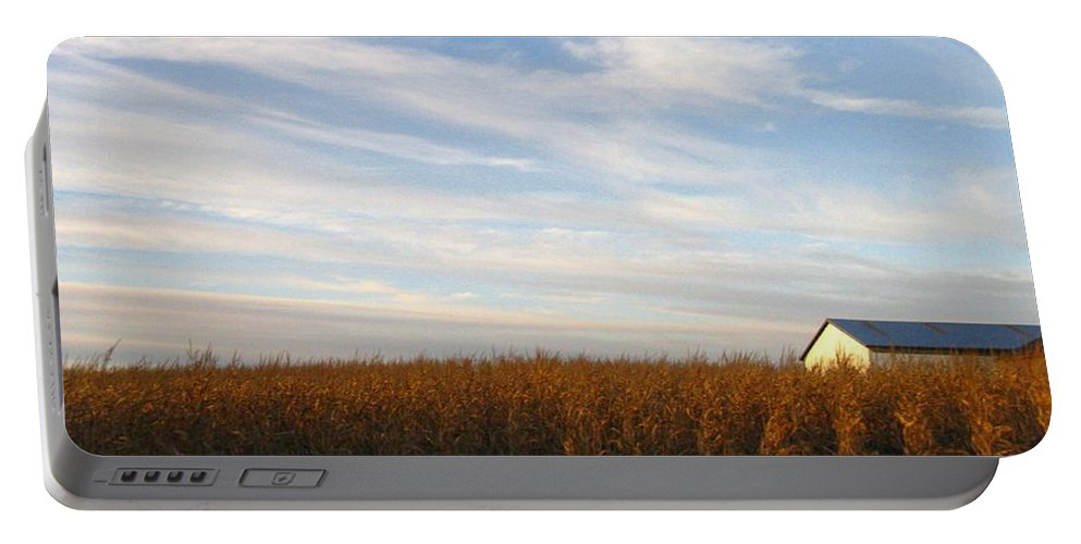 Country Portable Battery Charger featuring the photograph Fields Of Gold by Rhonda Barrett