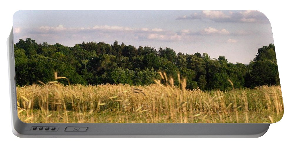 Field Portable Battery Charger featuring the photograph Fields Of Grain by Rhonda Barrett