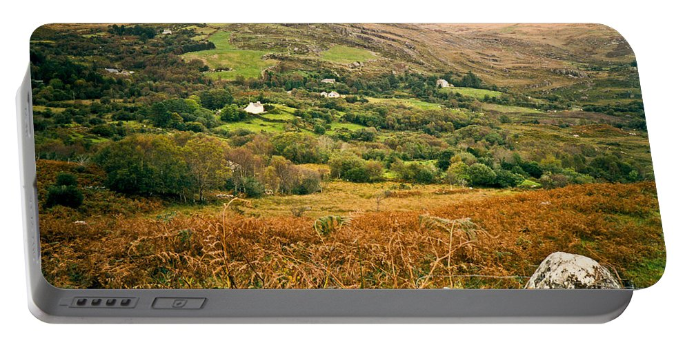 Fields Portable Battery Charger featuring the photograph Fields Of Ireland by Douglas Barnett