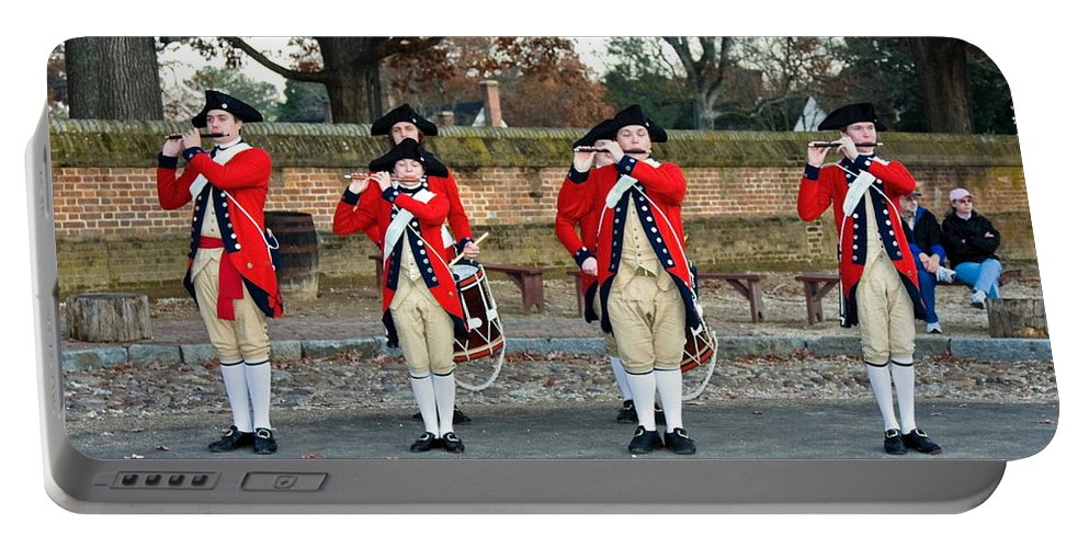Fifes And Drums Portable Battery Charger featuring the photograph Fifes And Drums by Sally Weigand