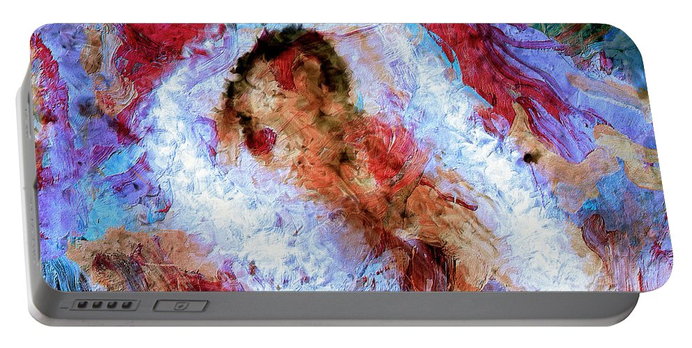 Abstract Portable Battery Charger featuring the painting Fifth Bardo by Dominic Piperata