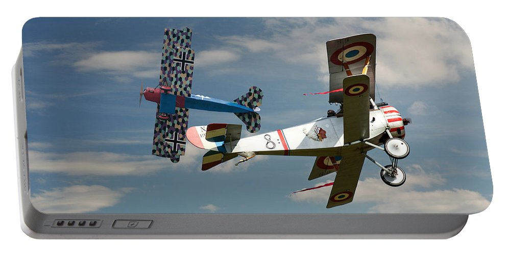 Aircraft Portable Battery Charger featuring the photograph Fighting Colours 2 - Fokker D. Vll - Nieuport by Pat Speirs