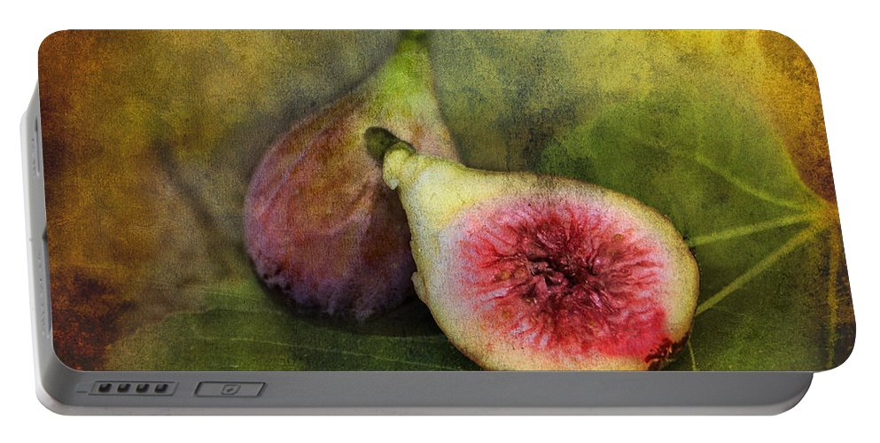 Figs Portable Battery Charger featuring the photograph Figs by Sari Sauls
