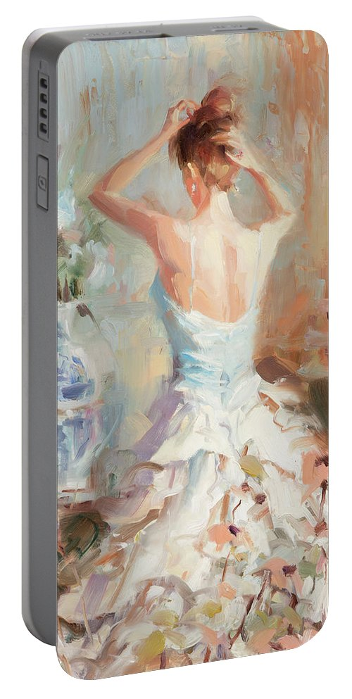 Romance Portable Battery Charger featuring the painting Figurative II by Steve Henderson