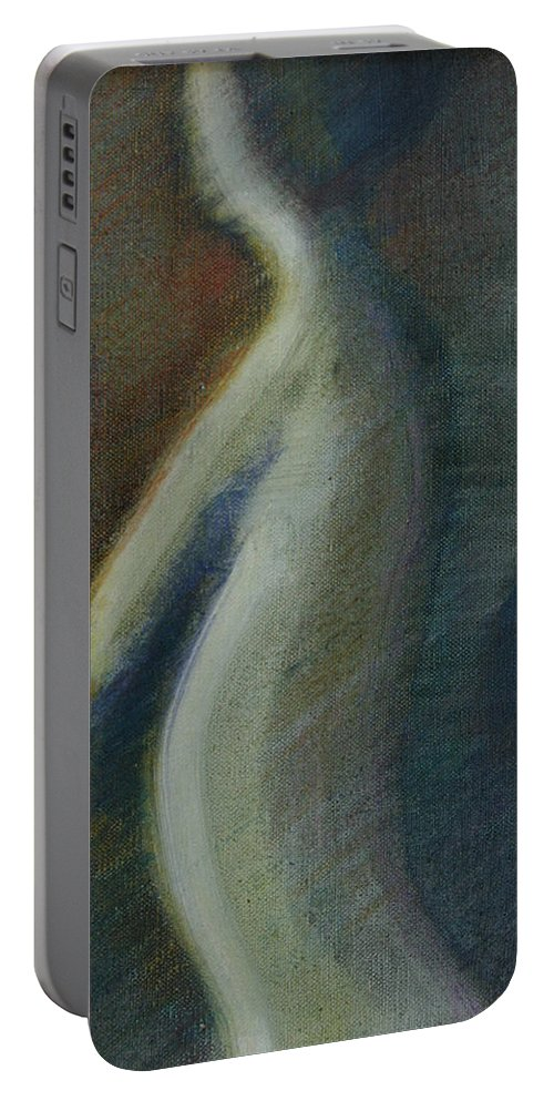 Drawing Portable Battery Charger featuring the painting Figure by Gideon Cohn