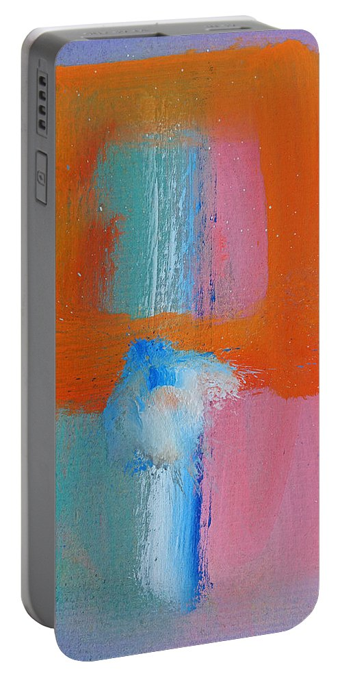 Flowers Portable Battery Charger featuring the painting Figure In A Souk by Charles Stuart