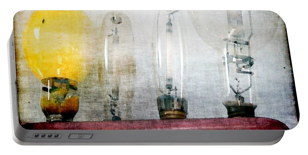 Antiques Portable Battery Charger featuring the painting 'filamentary My Dear Watson' by RC DeWinter