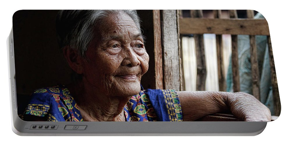 stock Images Portable Battery Charger featuring the photograph Filipino Lola - Image Number Fourteen by James BO Insogna