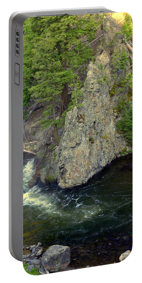 Firehole River Portable Battery Charger featuring the photograph Fin On The Firehole by Marty Koch