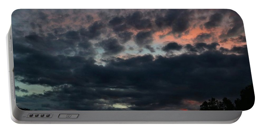 Sunset Portable Battery Charger featuring the photograph Final Sunset Fling by Kathryn Meyer